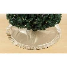Kmart Christmas Tree Skirt by Allen Roth 56 In Ivory And Green Linen Christmas Tree Skirt I