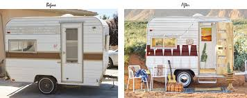 Can You Believe The Transformation Its Adorable Heres A Few Before And Afters Of Her Trailer Nugget Travel Interior Reno
