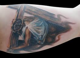 Jesus Carrying Cross By Michaelbrito