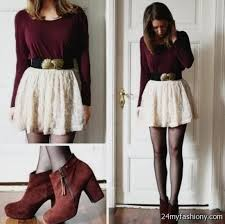 Cute Winter Dress Outfits 2016 2017