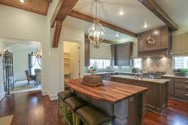 Modern Kitchen Design 2014 With Walkway To Dining Room Wood Floors