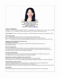 Sample Resume For Graduate Nursing School Application Best Fresh Nurse Of B AD