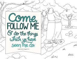 Just What I Squeeze In Come Follow Me Coloring Page