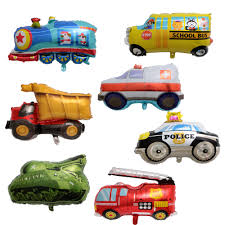 100 Fire Truck Birthday Party US 3836 40 OFF50pcs 30inch Policeman Car Train Tank Ambulance Engine Balloon Decoration Toys For Kids Car Balloonin