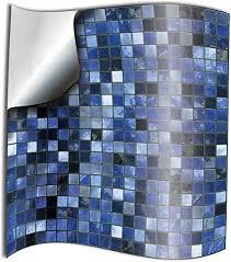 tile style decals 24 stück fliesenaufkleber für küche und bad blau mosaik wandfliese aufkleber für 15x15cm fliesen deko fliesenfolie für küche u bad