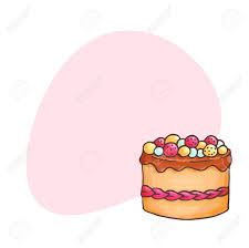 Cake illustration with place for text Pastry and bakery background Vector design for baker