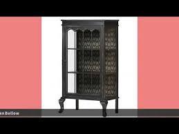 de eekhoorn vitrinenschrank vintage schwarz massivholz