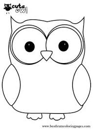 Nocturnal Bird Owl Coloring Pages 34 Pictures Cartoon Clip Arts
