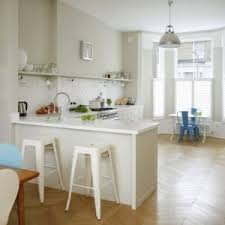 glossy white subway tile kitchen traditional with l armed