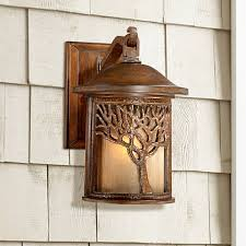 bronze mission style tree 12 1 4 high outdoor wall light u9313