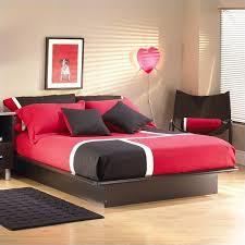 south shore cosmos black modern wood platform bed 2 piece bedroom