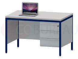 bureau m allique bureau demi ministre 120 avec caisson fixe 3 tiroirs