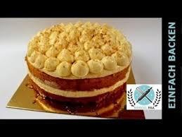 apfel zimt torte mit bayrischer creme apple cinnamon cake