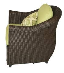 Patio Furniture With Hidden Ottoman by Sterling Home U0026 Patio Etta Woven Patio Chair With Hidden Ottoman