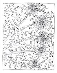 Free Adult Coloring Page Daisies 001
