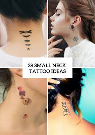 28 Incredible Small Neck Tattoos For Women