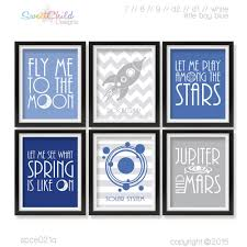 outer space nursery decor baby spaceship room art quote wall art