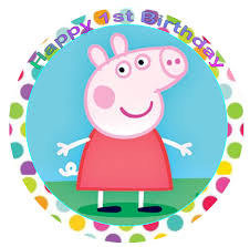 peppa pig cake decorations peppa pig 7 1 2 inch edible cake topper