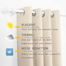 Sound Reducing Curtains Amazon by Amazon Com 2 Panels Thermal Insulated Blackout Grommet Window