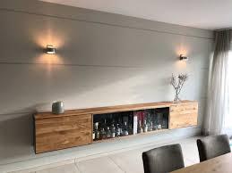 barschrank sideboard hängend holz eiche metall modern
