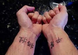 Chinese Writing Tattoos On Wrist