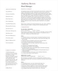 Operations Manager Resume Hotel Project Sample