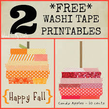 Halloween Washi Tape Amazon by Free Washi Tape Printables Fall Craft Decor Glued To My Crafts