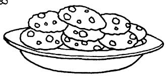 Eating Cookies Clip Art Black