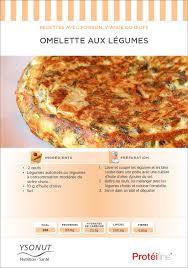 recette cuisine dietetique recette diététique omelette aux legumes