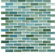 rip curl green and blue painted glass mosaic subway tile