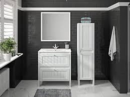 allibert badmöbel set waschbecken unterschrank spiegel
