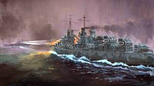 Uss America Sinking Photos by Uss Atlanta And Ijn Hiei Naval Battle Of Guadalcanal Us Navy