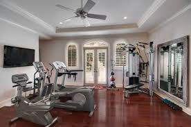 Home Gyms This Basement Home Gym Has A Treadm 58 Well Equipped ... Basement Gym Ideas Home Interior Decor Design Unfinished Gyms Mediterrean Medium Best 25 Room Ideas On Pinterest Gym 10 That Will Inspire You To Sweat Window And Big Amazing Modern Center For Basement Gallery Collection In Flooring With Classic How Have A Haven Heartwork Organizing Tips Clever Uk S Also Affordable