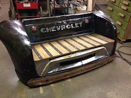 100 240 Truck Custom Made Bench From Vintage Truck Parts For Sale Contact Kyle