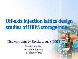 100 Axis Design Group Offaxis Injection Lattice Design Studies Of HEPS Storage