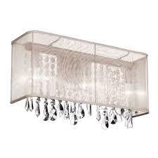 dainolite crystal 2 light bath vanity light reviews wayfair