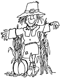 Free black and white scarecrow clipart 3