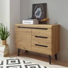 sideboard kommode anrichte torge 107cm artisan eiche schwarz grifflos mdf modern