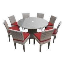 Harmony 60 Outdoor Dining Table With Chairs 9 Piece Set Terracotta By TKClassics From