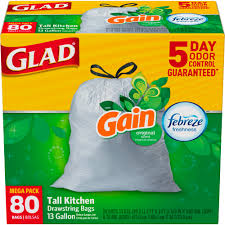 Christmas Tree Trash Bags Walmart by Glad Odorshield Drawstring Tall Kitchen Trash Bags Gain Original