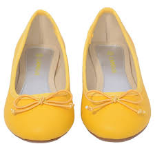 l u0027amour yellow slip on bow flat dress shoes toddler girls 7 10