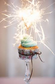 Cupcake sparkler And I love the dollar store candle stick as a cupcake stand