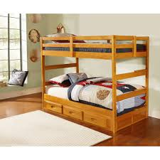 twin over twin honey bunk bed