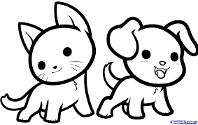 Cute Baby Animals Drawings Coloring Pages Draw Easy Page
