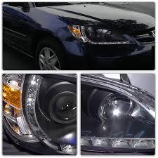 xenon 04 05 honda civic r8 style led drl projector headlights
