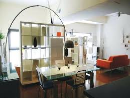 Studio Apartment Dining Table Classy Small With Oriental Wall Divider And Wooden Furniture