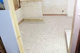 carrara bianco honed octagon bardiglio gray dot mosaic marble
