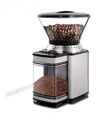 FJ Electric Grinder Coffee Beans Mill Thickness Adjustable Household Commercial Large Capacity Silver 190