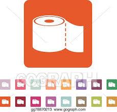 vektorkunst dass toilettenpapier icon badezimmer