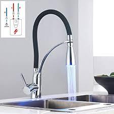 led niederdruck wasserhahn küche schwarz spüle armatur mischbatterie einhebel küchenarmatur spültischarmatur mit 3 anschluss schläuchen